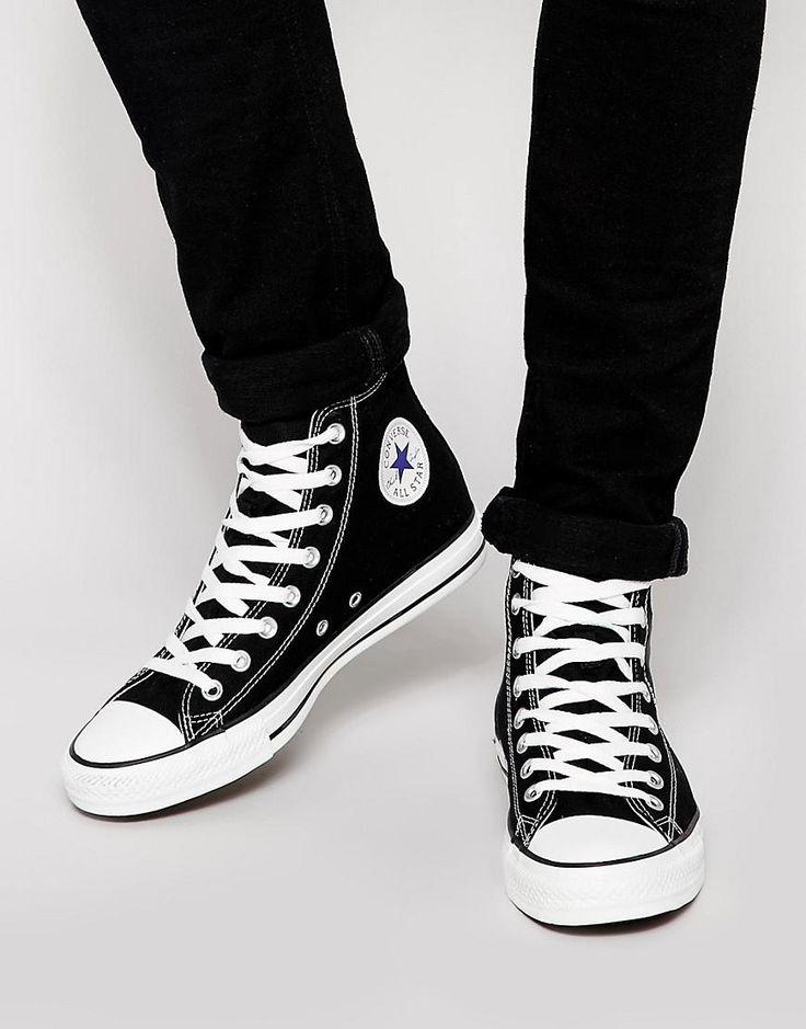 Converse All Star Hi Sneakers In Black #menswear