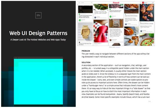 Free ebook on web UI design patterns to download today!