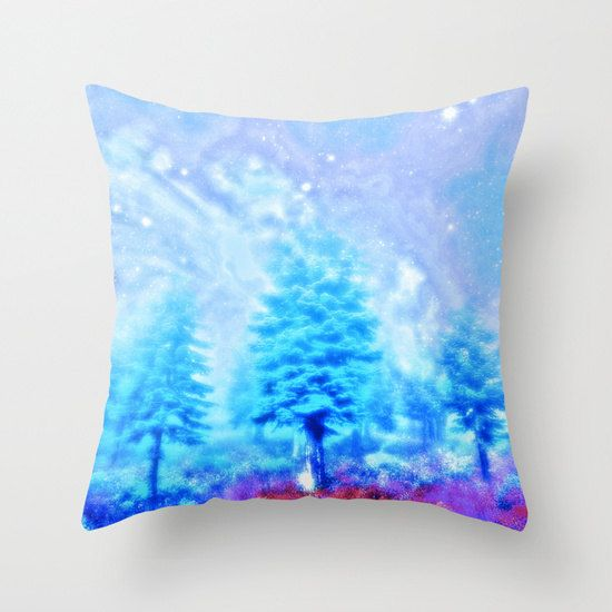 winter pillow/throw pillows/dorm decor/trees by haroulitasDesign
