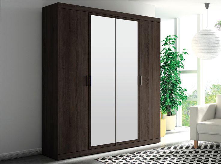Las 25 mejores ideas sobre puertas de armario con espejos for Espejo para puerta