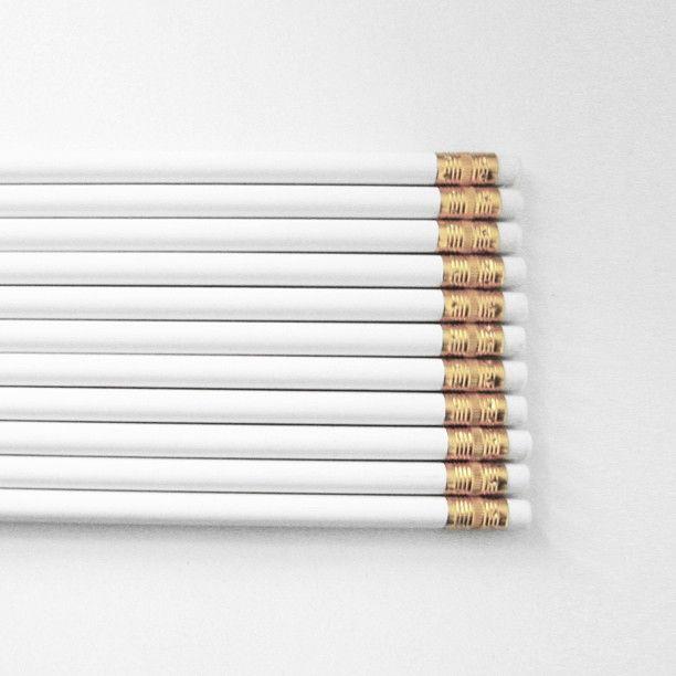 White & Gold Pencils