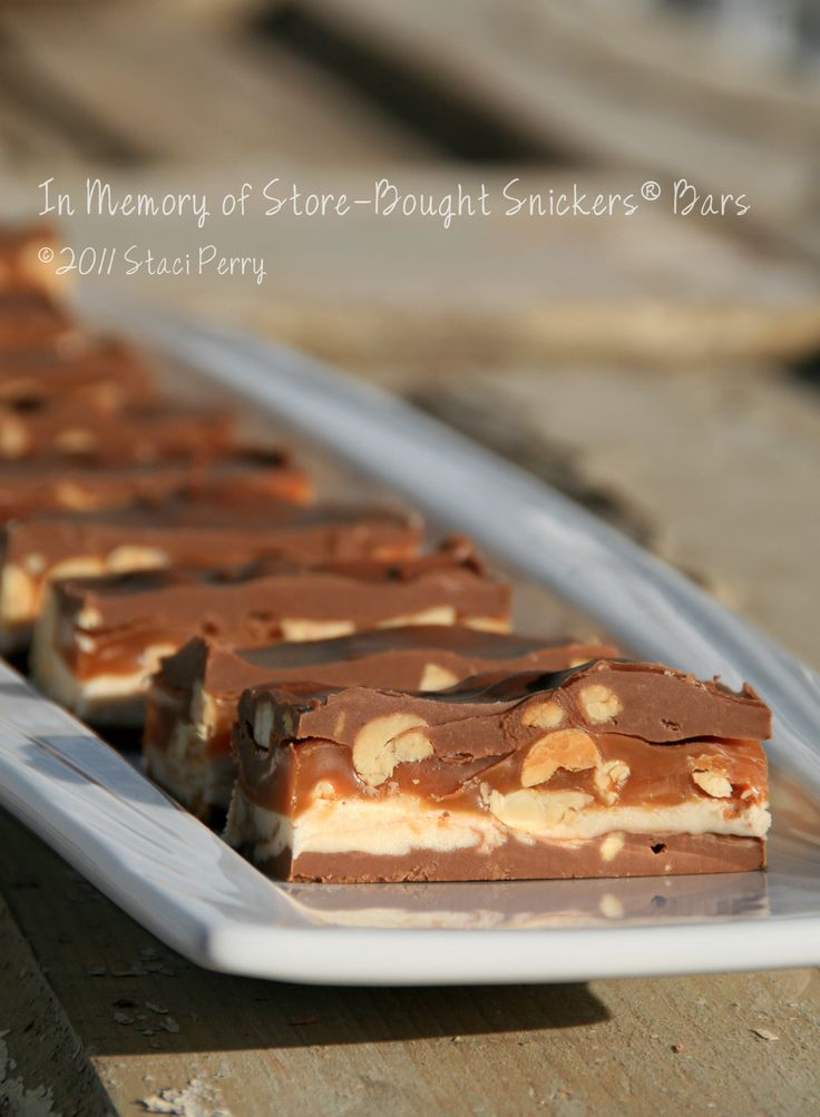 Homemade Snickers Bars | Recipes | Pinterest