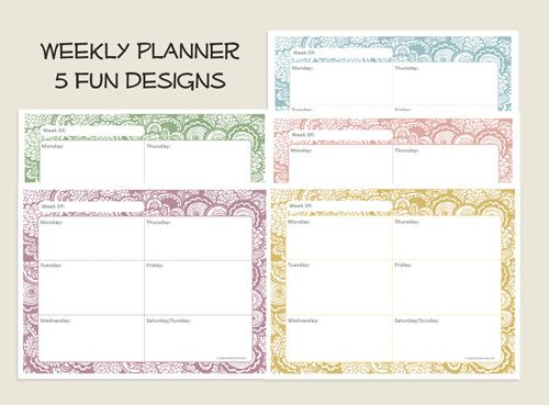 15 best Calendars images on Pinterest Planner ideas, Organizers - free printable weekly planner