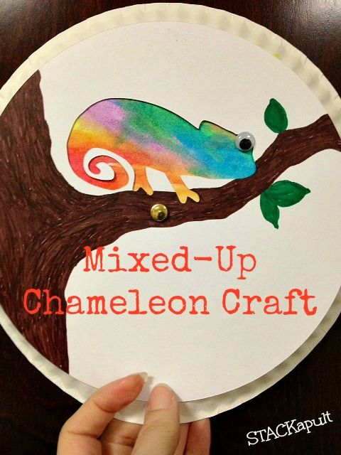 A Mixed-Up Chameleon Craft- STACKapult                                                                                                                                                                                 More