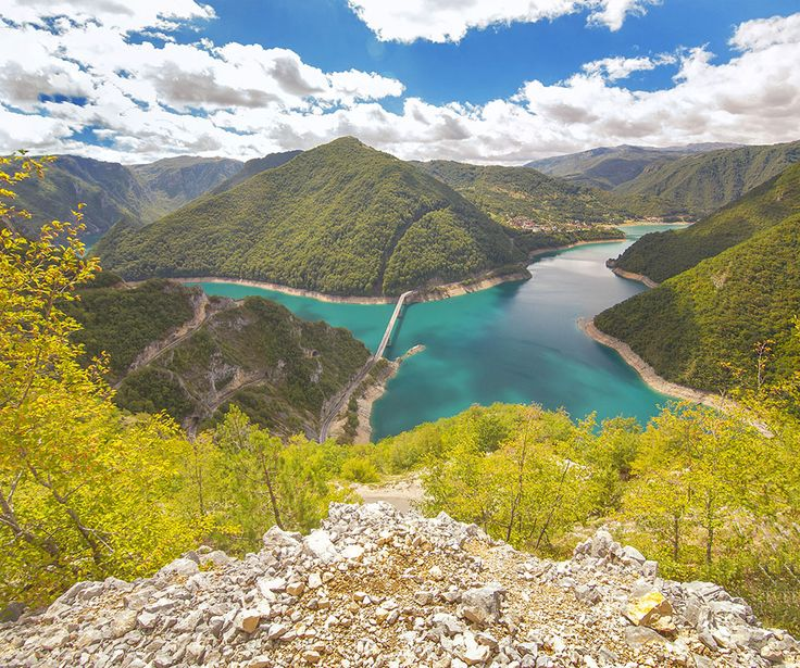 Piva Canyon from the road Žabljak-Plužine.Montenegro