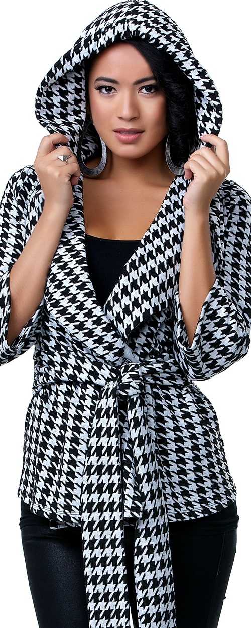 Oh I want one!! Harlow Houndstooth Jacket - Unique Vintage - Cocktail, Pinup, Holiday & Prom Dresses.