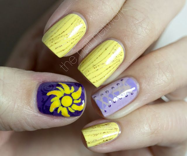 The Nail Network: Disney Princess Nail Art Series: Rapunzel: