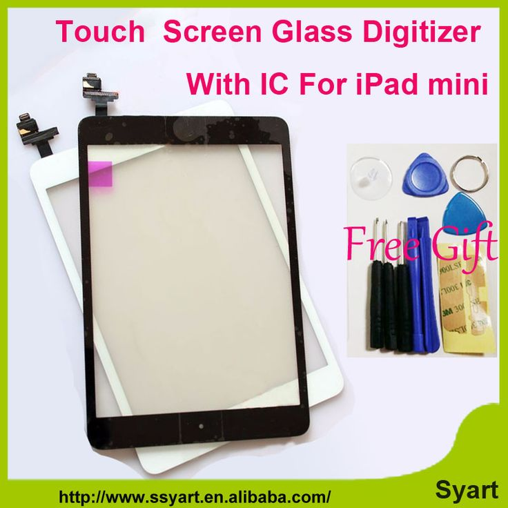 1 stuk Wit & Zwart Vervang touchscreen digitizer glas lcd panel met home buttom met ic connector voor ipad mini/mini 2