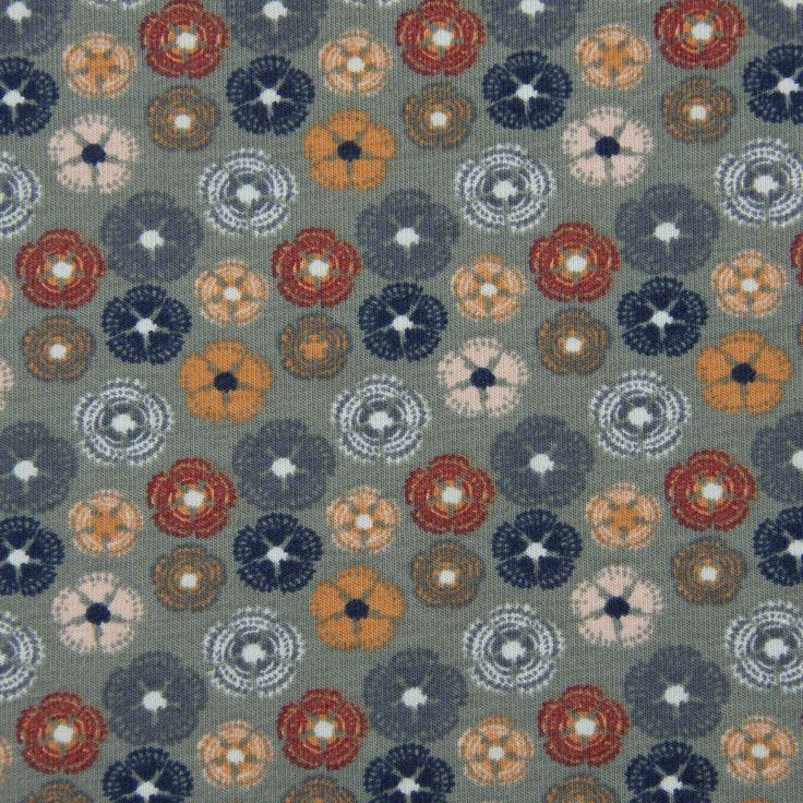 jersey bio organic blumen abstrakt altgruen blau rot orange 1 45m