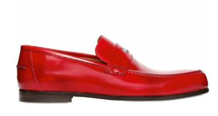 red loafers leather for men | JIMMY CHOO - MEN'S RED LEATHER PENNY LOAFER SPRING 2012