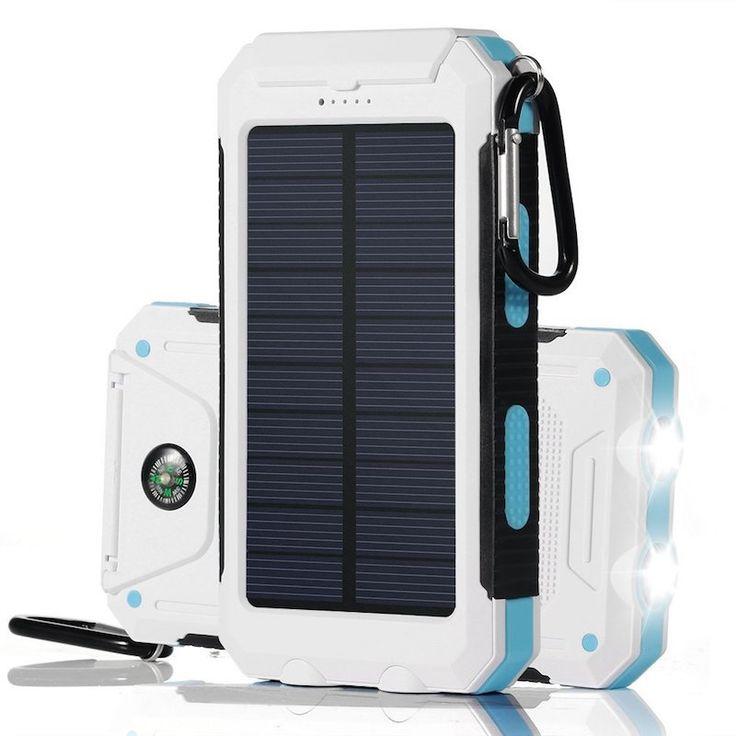 [Bon Plan] Batterie externe étanche 10 000mAh avec chargeur solaire et lampes LED à 1367