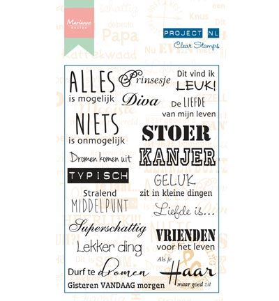 Marianne Design Project NL Clear Stamps - Individu