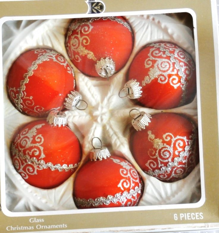 Christmas Ornaments Vintage Glass Krebs orange Victorian shabby chic 1980's . https://www.etsy.com/shop/Avaricia/search?search_query=christmas&order=date_desc&view_type=gallery&ref=shop_search