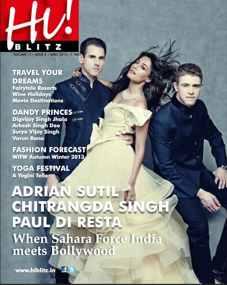 Chitrangada Singh on The Cover of Hi! Blitz Magazine April 2013.