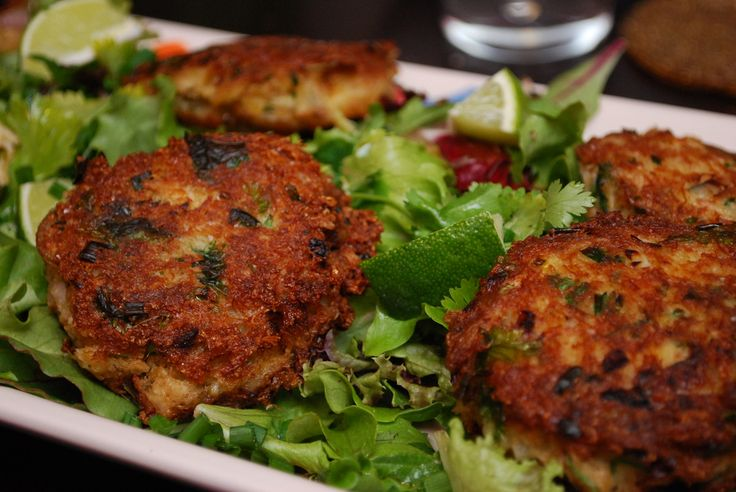 Ginger Scallion Crab Cakes | tastes of summer | Pinterest