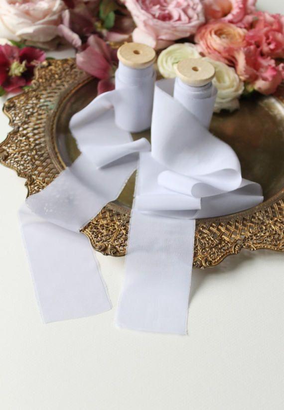 Hand dyed silk ribbon Gray silk chiffon satin ribbon on spool