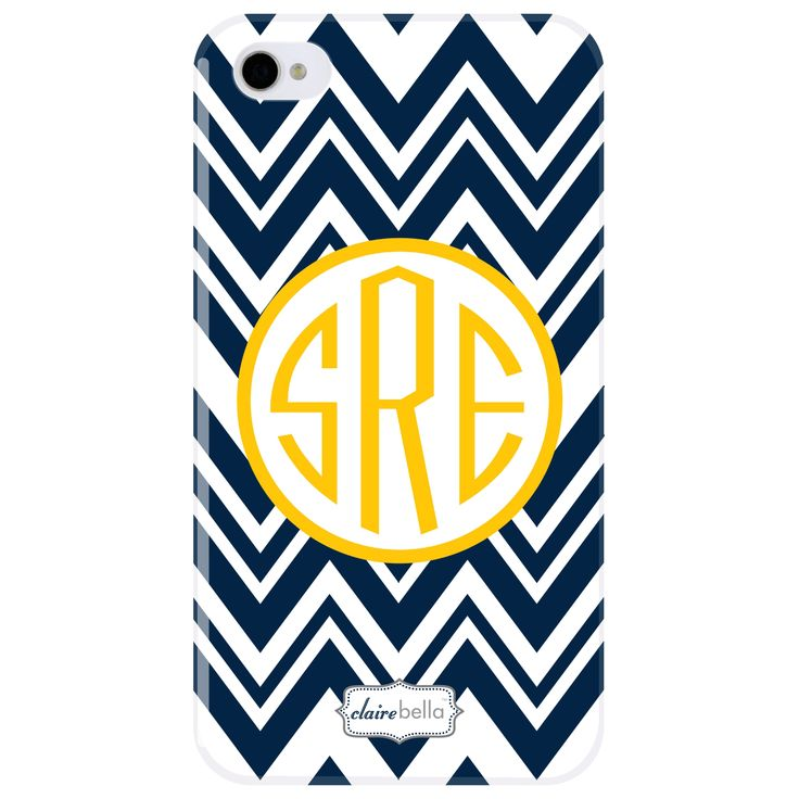 Clairebella personalized cell phone case zig zag sarah for Clairebella