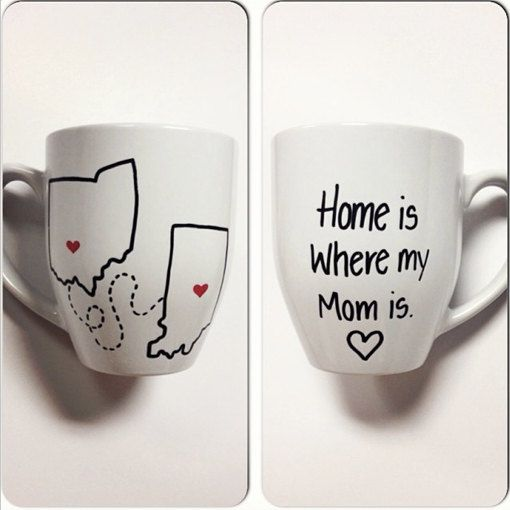 Original Home Is Where My Mom Is Coffee Mug Mothers Day Gift Mum