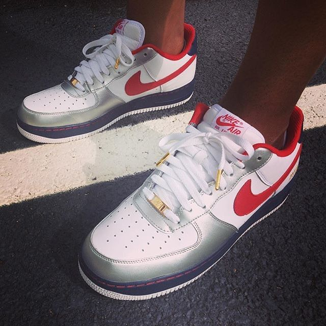 #SoleToday: @hypebeast_pat broke out his Olympic 7-inspired Nike Air Force 1