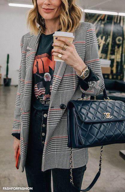 Check Plaid Blazer / Street style fashion / fashion week #fashionweek #fashion #…