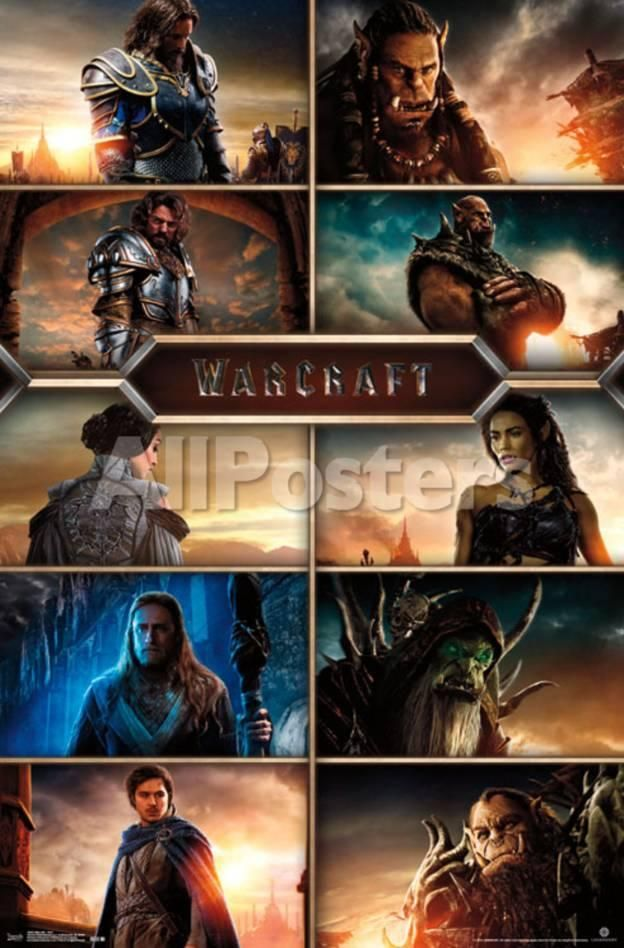 Warcraft- Movie Cast Grid Movies Poster - 56 x 86 cm