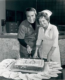 General Hospital - this was the first show she watched when she moved here and it helped teach her English