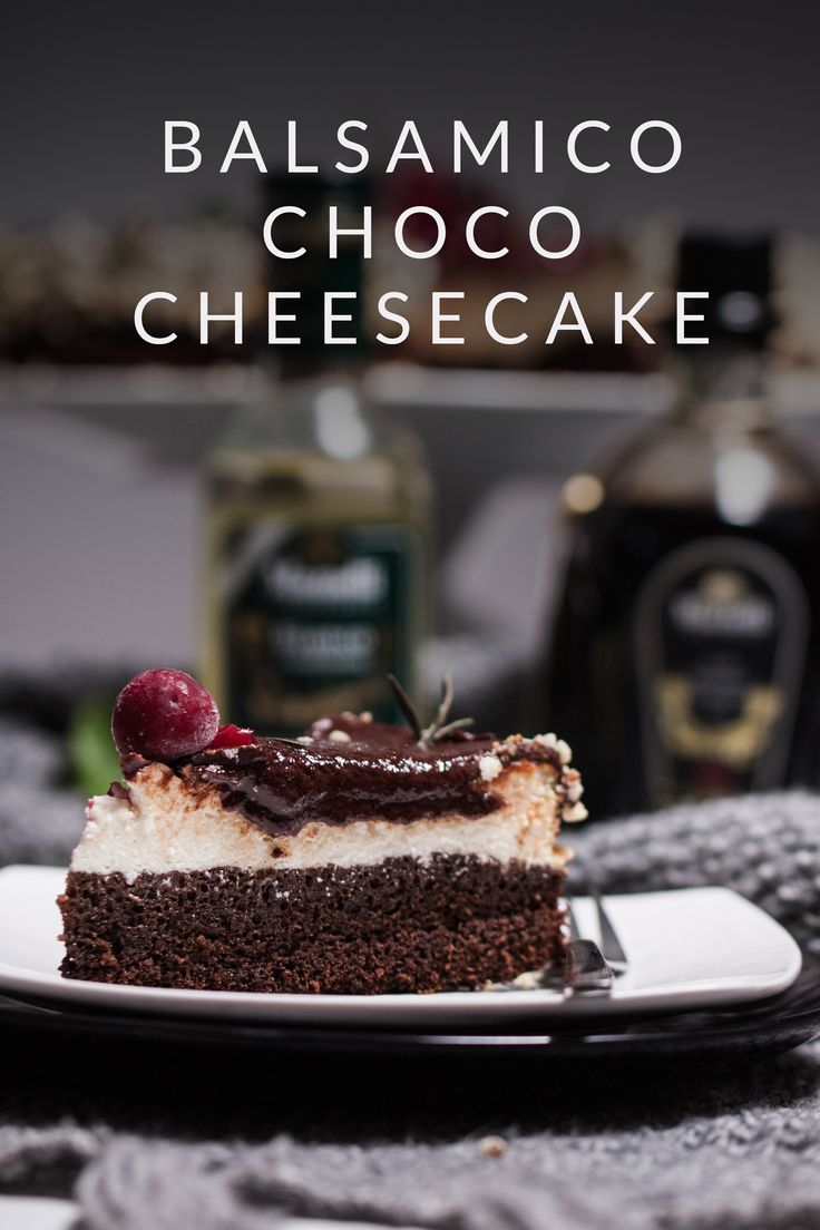 Delicious Choco - Cheesecake with Balsamico