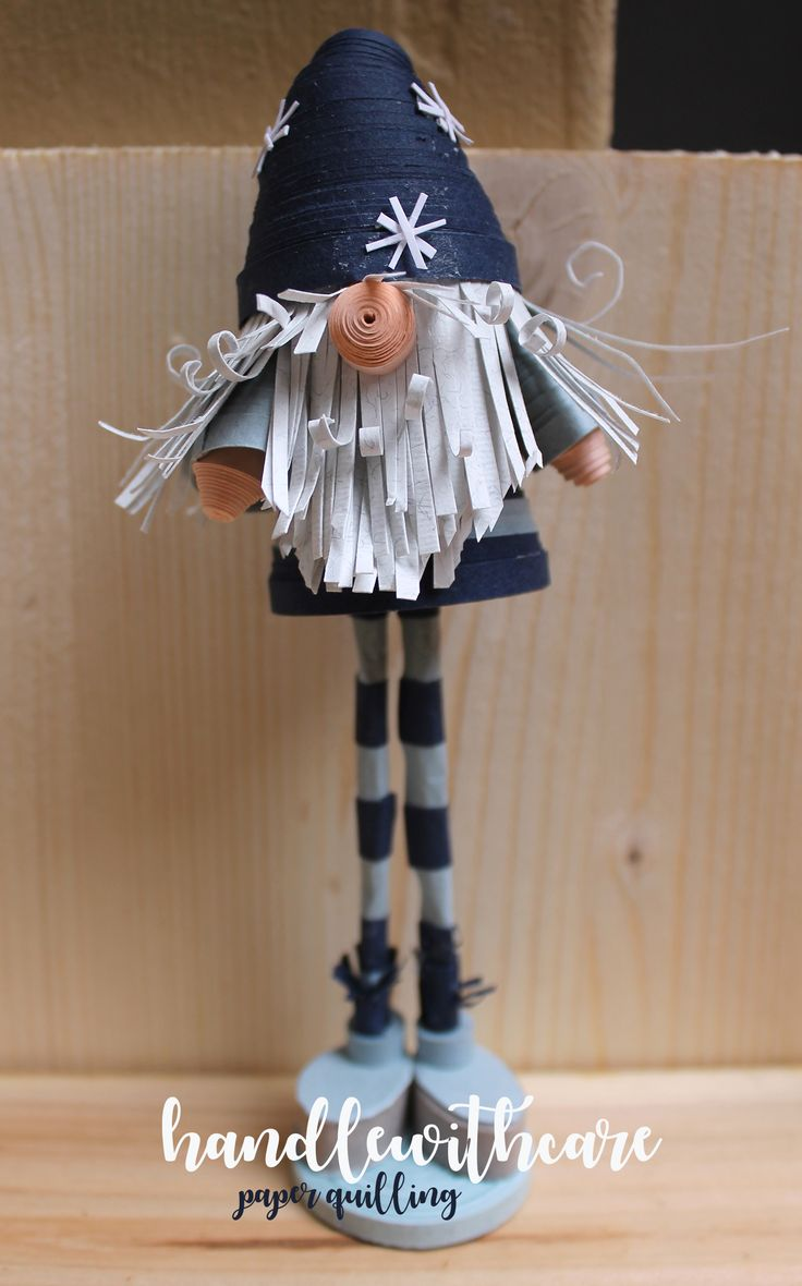 Christmas quilling scandinavian gnome on Behance