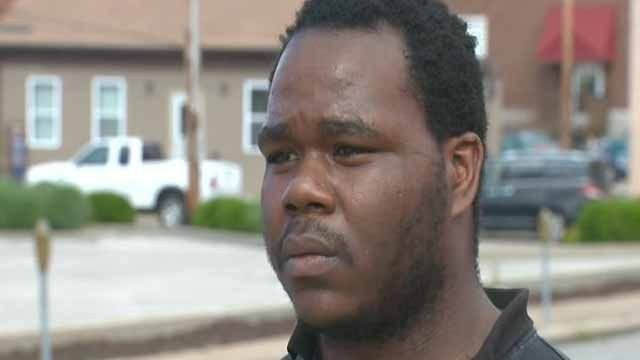 Seeking Employment While Black: A man wrongly held in police custody for a bank robbery in Belleville says the incident may have cost him a chance for a job. Belleville, Illinois (KMOV) - A man wrongly held in police custody for a bank robbery in Belleville says the incident may have cost him a chance for a job. Reginald Curry, 24, was held for robbing a Regions Bank in Belleville on May 27. He was taken into custody as Curry was interviewing for a kitchen job at Tavern on Main.