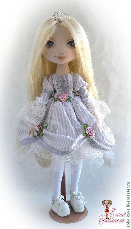 Купить Милена - кукла, текстильная кукла, принцесса, кукла для девочки, блондинка, интерьерная кукла