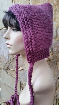 ♡ Knitted & Crochet Pixie Hood Hats ♡ on Pinterest | Women Hats ...