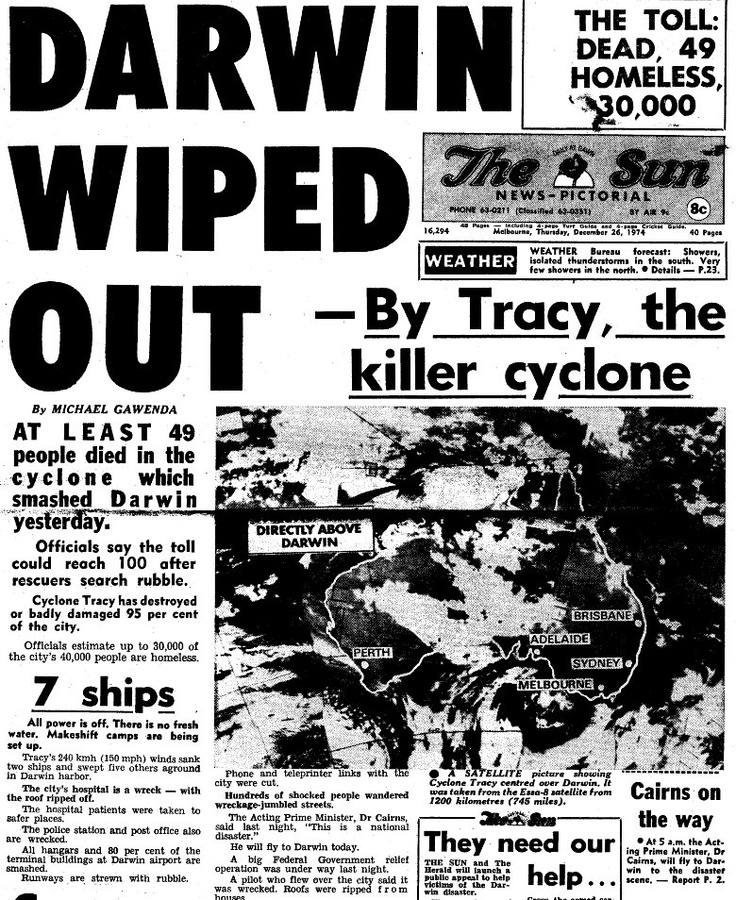 1974 Darwin Wiped Out. Remember this well