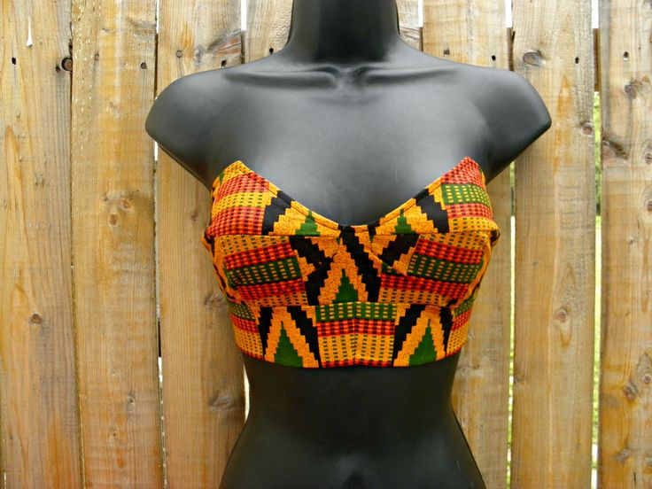 African tribal print bustier (Bella Visage Clothing) - love this print. now just have to find some high waist pants/shorts to go with it