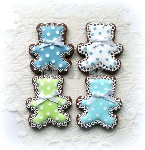 Baby boy shower cookies by nvillon