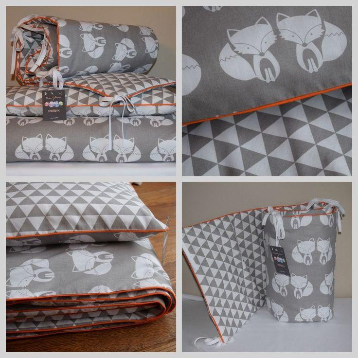 100% COTTON Cot Bed Duvet Cover Set Girls Boys Grey Fox Orange Woodland | Baby, Nursery Bedding, Nursery Bedding Sets | eBay!
