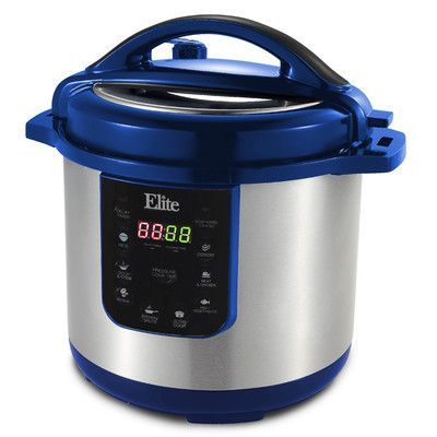 Elite by Maxi-Matic Platinum 8-Quart Electric Stainless Steel Pressure Cooker Color: Blue