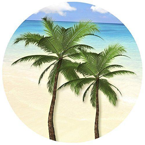 Round Palm Tree Screen Door Magnet X )