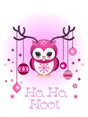 Owl Holiday card 2 by minercia.deviantart.com