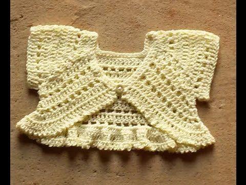Bolero mariposa o torerita para bebitas y niñas tejido a crochet ¡paso a paso! - YouTube
