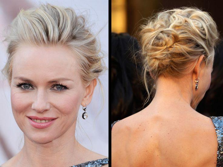 Le chignon bohème de Naomi Watts - 50 coiffures de mariage tendances 2013 - Grazia
