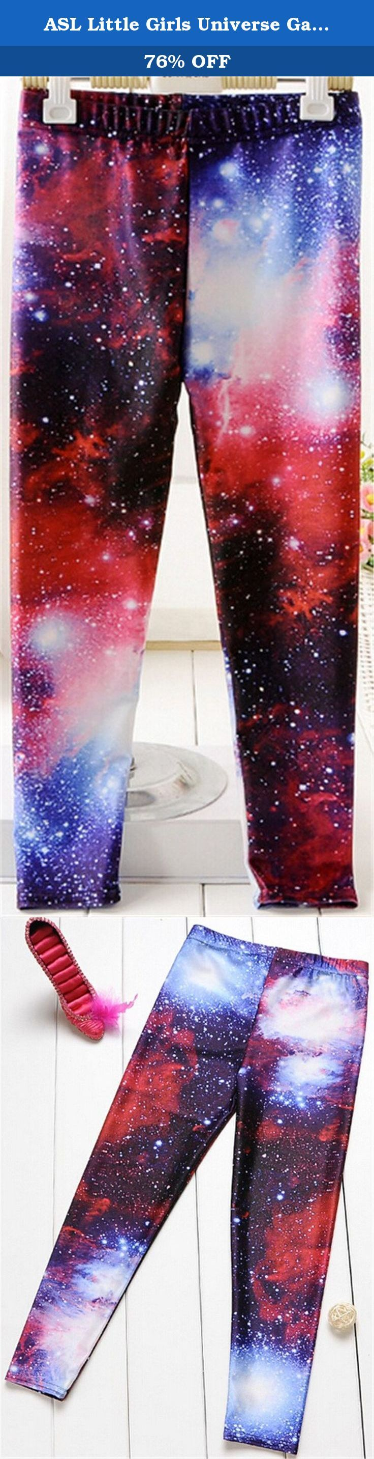 """ASL Little Girls Universe Galaxy Printed Skinny Leggings Pants 04 red. Any problem can contact our customer service, promise to give you satisfied solution. The products from China which is good quality and good price. Pay attention to our Asian size which is much smaller than US size, you can contact us to get help for your right size. Material: The detail measurement is as follow: Spandex and Lycra Size details: 2-3y:Pant Length:23.62""""(60cm) waist:9.06""""(23cm); 3-4y:Pant…"""