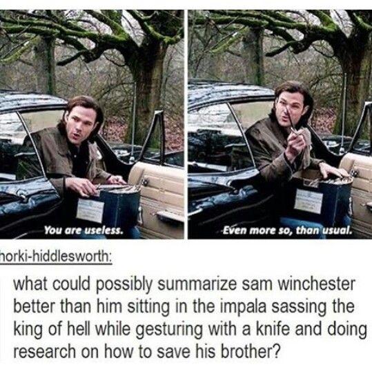 A short summary of Sam Winchester Supernatural