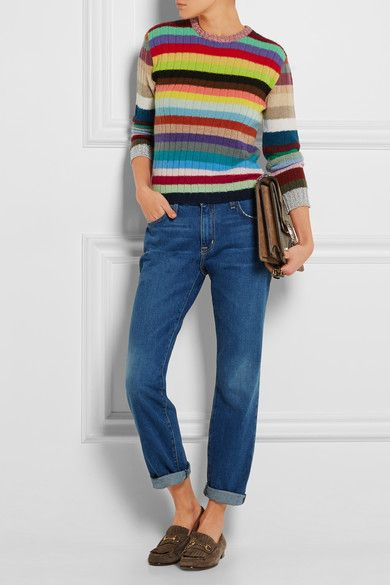 Gucci | Striped cashmere and wool-blend sweater | NET-A-PORTER.COM