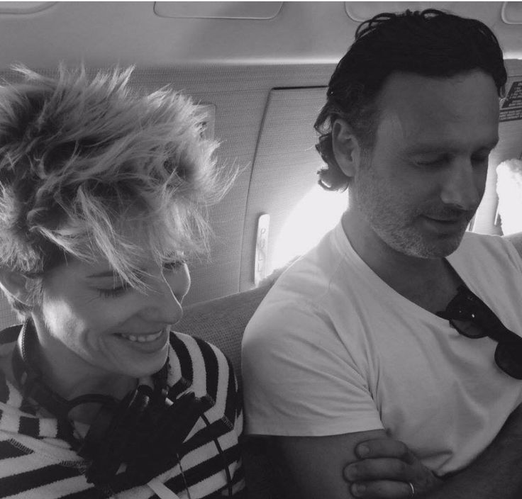 Gael Anderson and Andrew Lincoln enroute to SDCC2015 - July 9, 2015 (photo: Melissa McBride)
