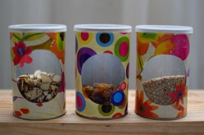 Envases de cartón con ventana {proyecto de reciclaje}