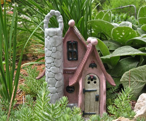 Magical Fairy House toad gnome by ClaySoul on Etsy, $62.85