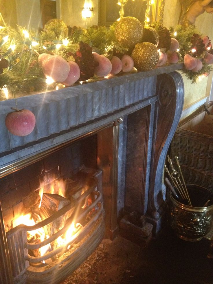 Longueville Fireplace at Christmas