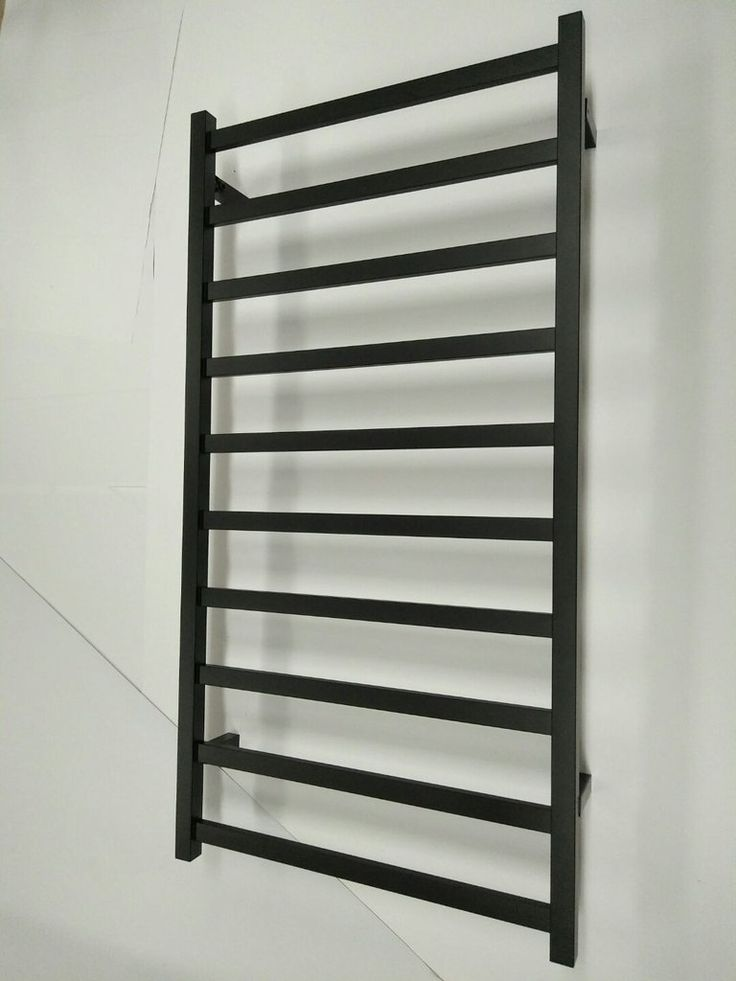Stainless Steel 304 Electric Heated Towel Rail Rack Black