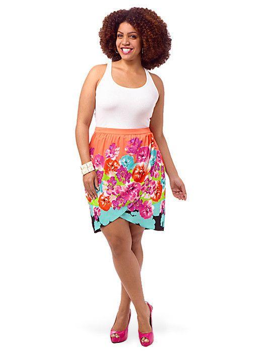Wrap Floral Skirt