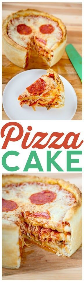 The ultimate deep dish: layers of cheese and pepperoni piled high in a hearty crust, so you can have your cake and pizza too!